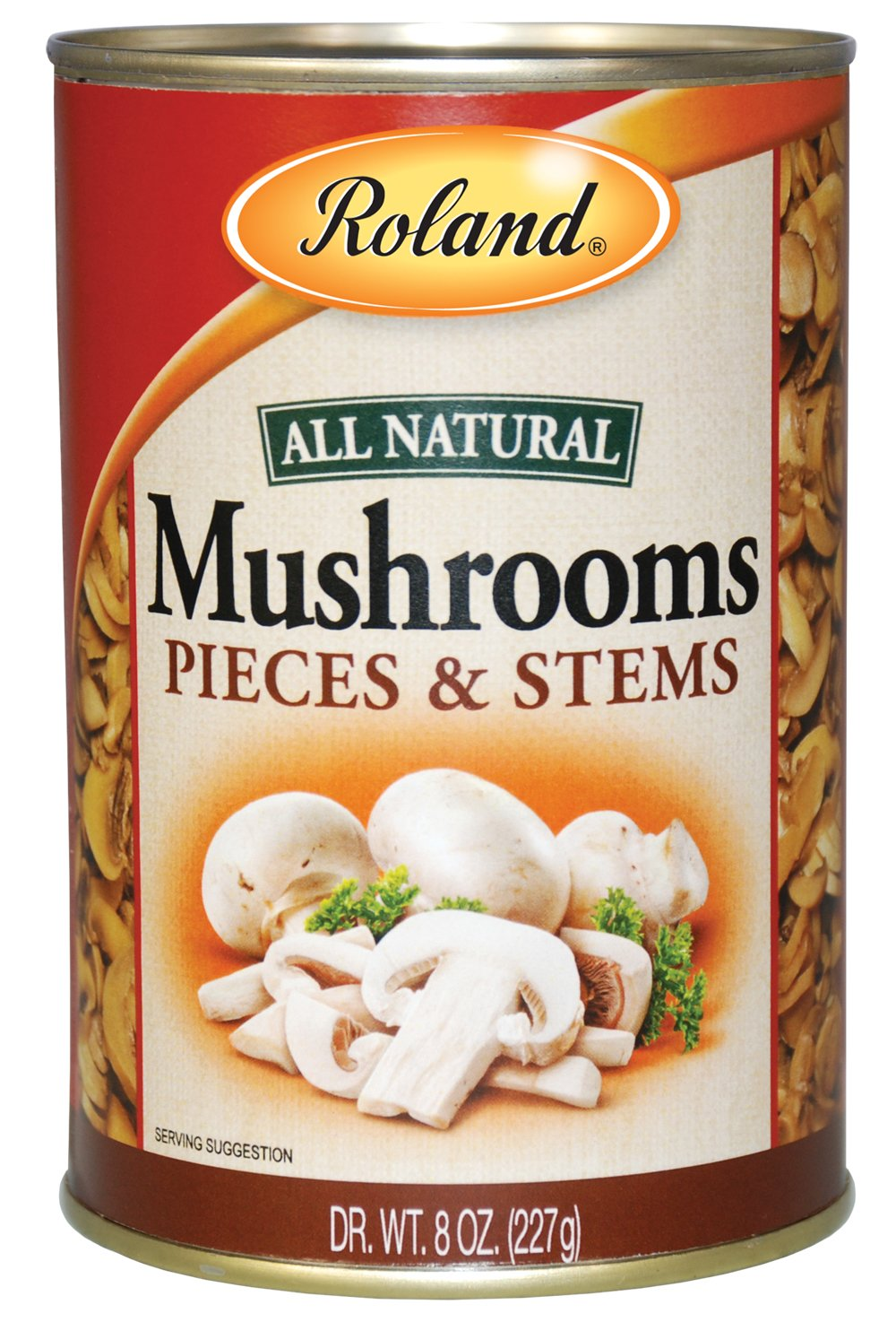 Roland Mushrooms, Pieces & Stems, 8 Ounce (Pack of 24)