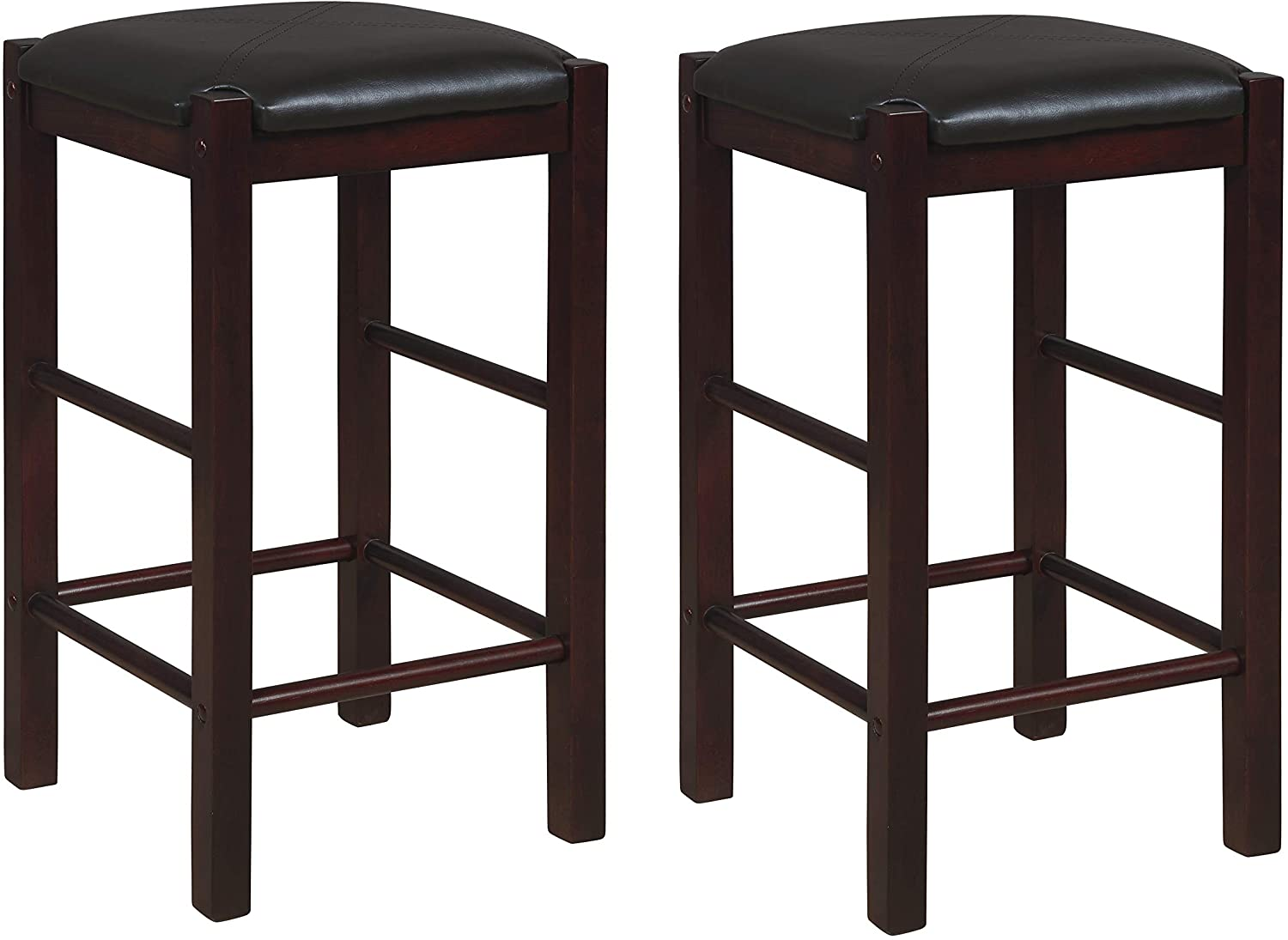 Linon Betsy Espresso Backless 25 Counter Stools Set Of Two Espresso Stools Furniture Decor