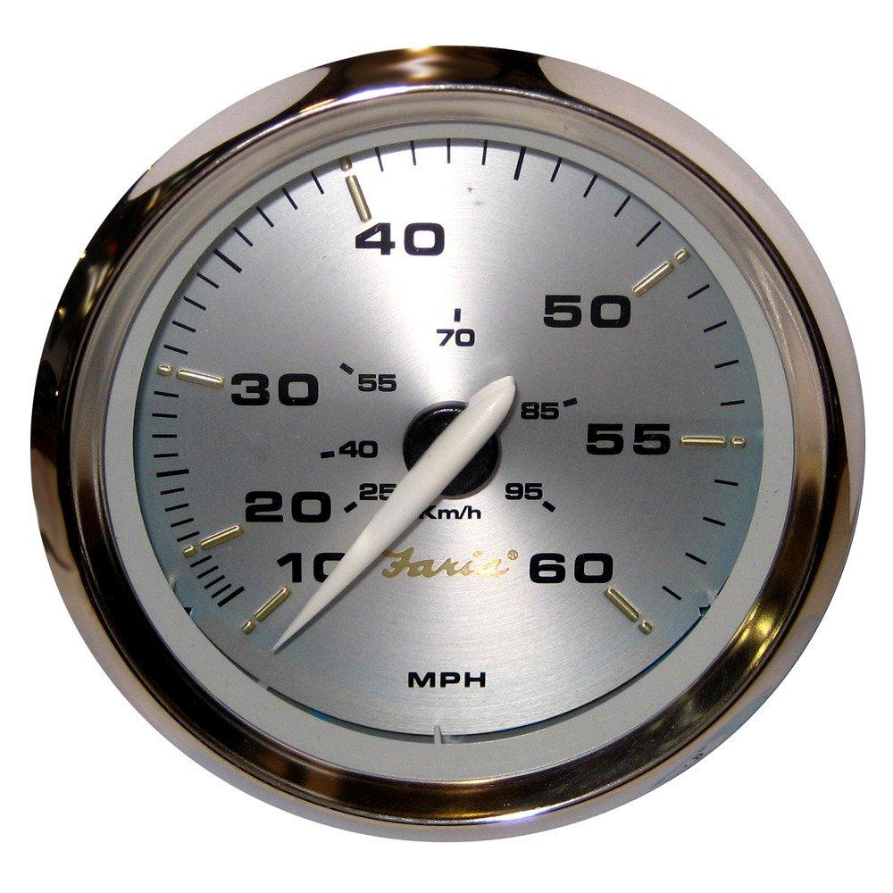Faria Kronos 4'' Speedometer - 60MPH (Mechanical)