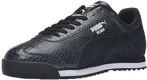 91cb37f90da917 PUMA Men's Roma Texture Running Shoe, Black-Dark Shadow, 5 M US ...