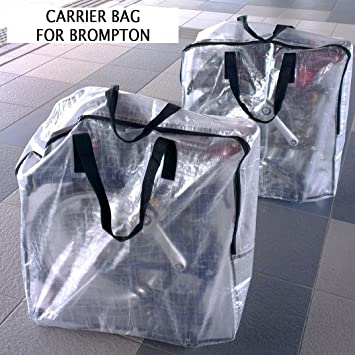 0ad197c37 London Craftwork Carrier Bag for Brompton Bike Bicycle Carry Cover Travel  Airplane: Amazon.co.uk: Sports & Outdoors