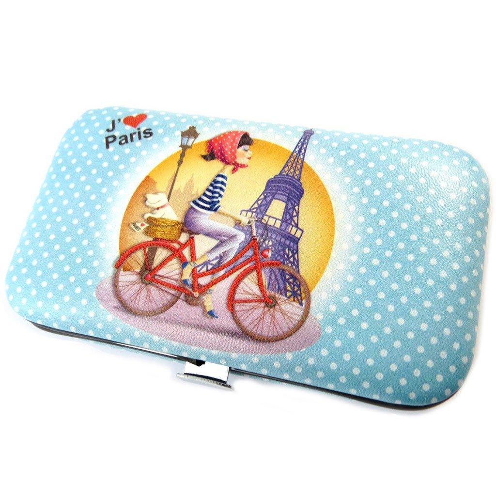 Les Trésors De Lily [P0976] - Trousse Manucure 'J'aime Paris' bleu petits pois (6 outils) Les Tresors de Lily 030902PLY042017P097600
