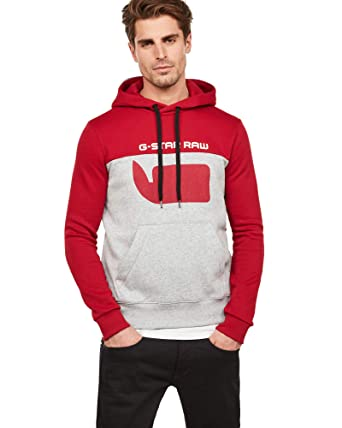 fdc751946a Amazon.com  G-Star Raw Men s Graphic 10 Core Hooded Long Sleeve ...