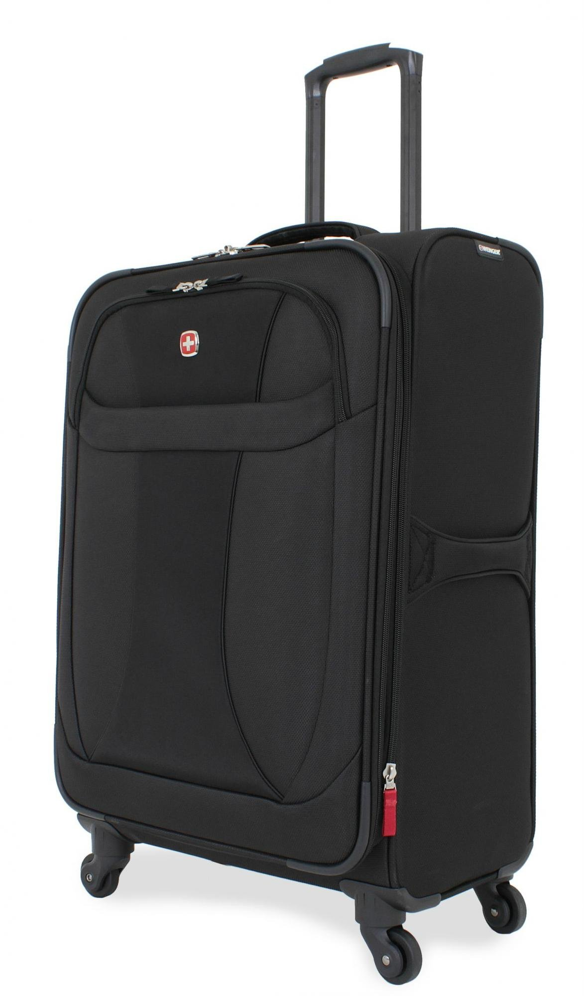 SwissGear Lightweight Spinner Luggage Collection Black 24'' Spinner