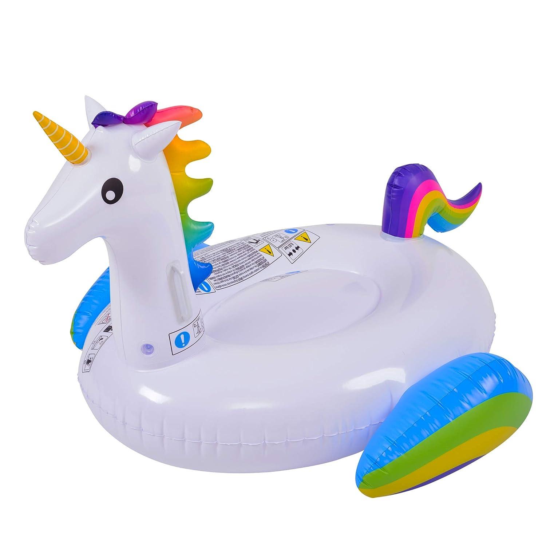 Amazon.com: Flotador de piscina inflable de unicornio mágico ...