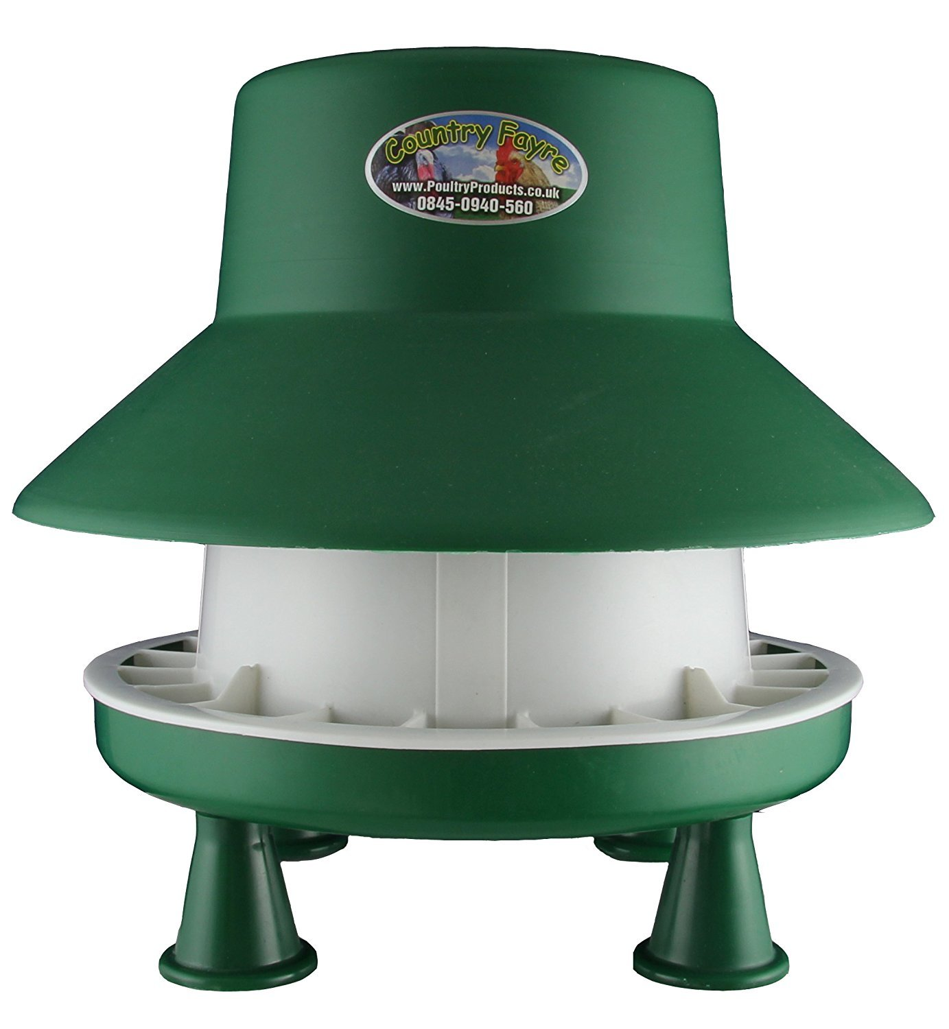 6kg Blenhiem Outdoor Feeder Complete With Legs Green and White Country Fayre (UK) Ltd