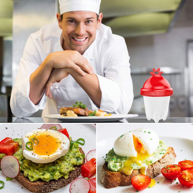 silicona blanda, sin BPA, silicona antiadherente FDA Cocedor de huevos Le Destin Easy Egg 6 unidades.