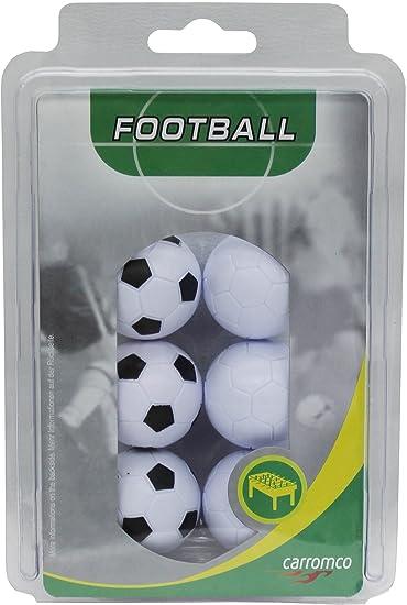Carromco 62706 Pelotas de futbolin, Unisex, Multicolor (Blanco y Negro/Blanco), 36 mm Conjunto de 6: Carromco Kickerbälle (3x schwarz-weiß, 3x weiß): Amazon.es: Deportes y aire libre