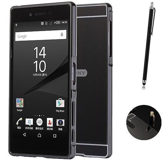 2 opinioni per Sony Xperia Z5 Cover, LXHGrowH Custodia a Specchio per Sony Xperia Z5 Alluminio