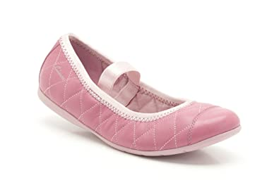 Clarks Girl's Leather Ballet Flats Ballet Flats at amazon