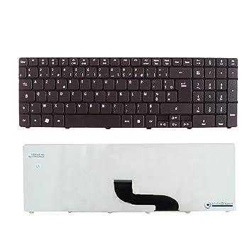Teclado francés AZERTY para ordenador portátil ACER Aspire 5810TZ negro: Amazon.es: Informática