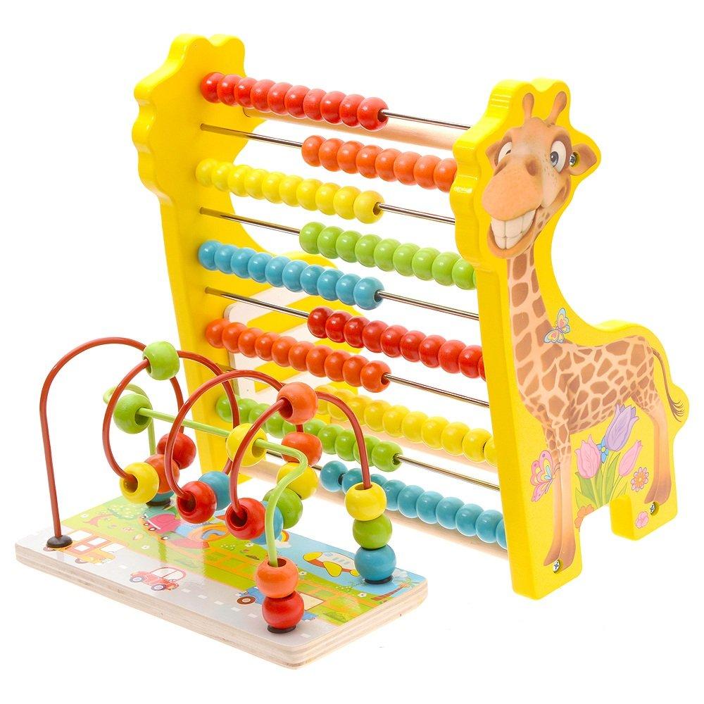 Unbekannt FEI Babyspielzeug Holz-Kinderspielzeug wulstige Perlen Early Education Babyspielzeug Babyspielzeug Babyspielzeug die Entwicklung von Intellectual 1-3 Jahre Frühe Erziehung (Farbe   3) dc316b