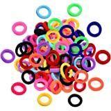 (Multicolor) - Elastic Hair Bands Ties Girl, Small Size Rubber Band Ponytail Holders (100 PCS)