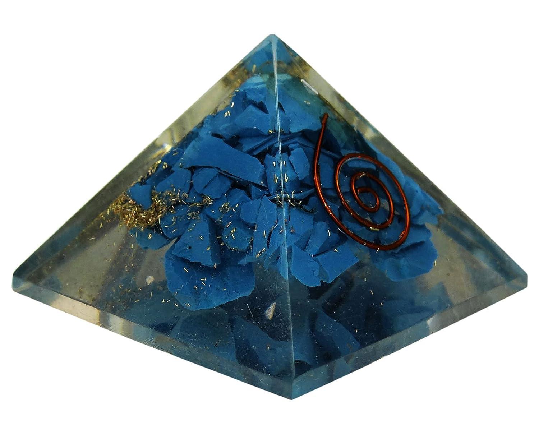 HARMONIZE Orgone Lapis Lazuli Pyramid Energy Generator Reiki Healing Crystals Chakra Balancing Therapy