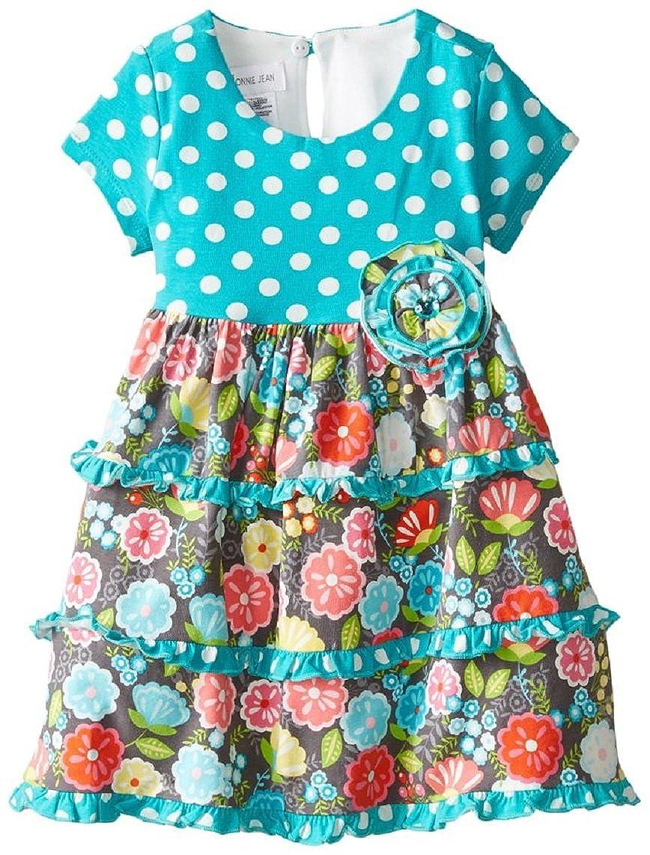 Bonnie Baby DRESS ベビーガールズ 6X マルチ B01D3M8PVC