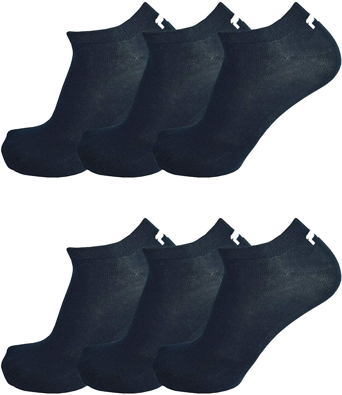 Invisible Sneakers unisex 35-46 bianco e nero Fila 6 paio calzini