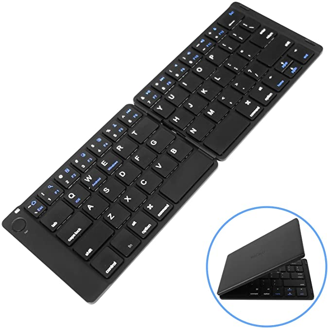 05f64b9a301 Macally Universal Foldable Bluetooth Keyboard | Portable Folding and  Wireless | Works with Apple iPhone/