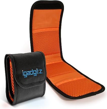 iGadgitz U4536 3 Bolsillos Funda Porta Filtros de Objetivos Compatible con Cámaras SLR y DSLR: Amazon.es: Electrónica