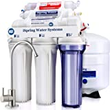 iSpring RCC7AK 6-Stage Under Sink Reverse Osmosis Drinking Water Filter System, NSF Certified, Superb Taste High Capacity Fil