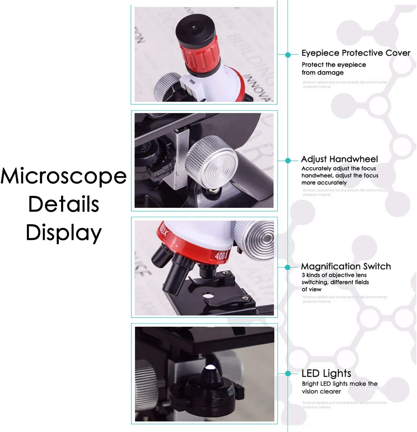 Including Animals Basic Biology Education and Science Exhibition Projects for Children and Students TooFu 48 Pcs Microscope Slides and Vegetable Specimens Plants Insects