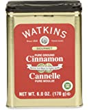 Watkins Gourmet Spice Tin, Pure Ground Cinnamon, 6 oz. Tin, 1-Count