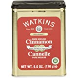 Watkins Gourmet Spice Tin, Pure Ground Cinnamon, 6 oz. Tin, 1-Count