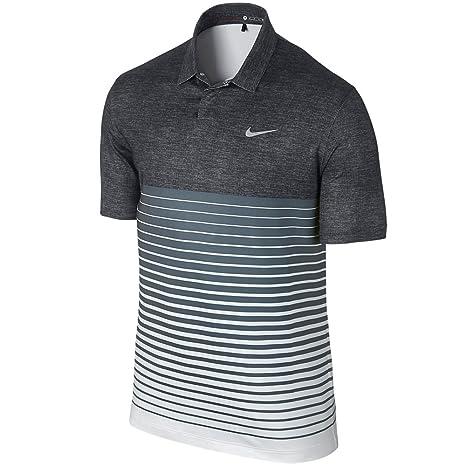 Nike TW Bold Stripe Polo hombre negro/gris: Amazon.es: Deportes y ...