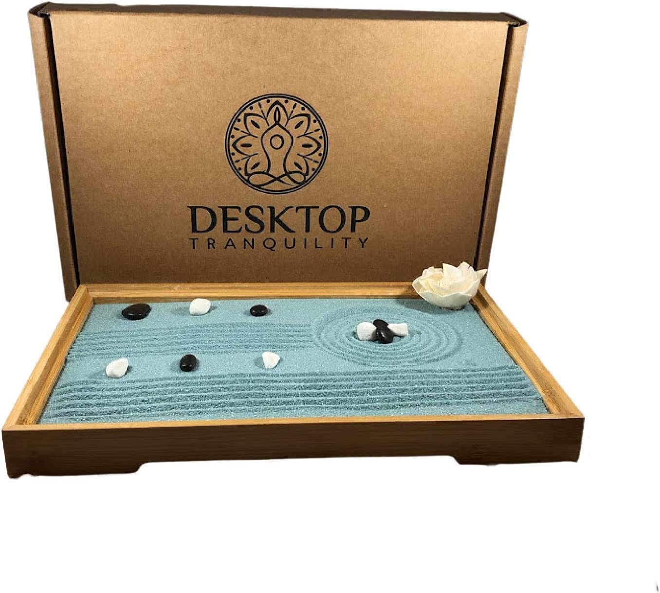 Mini Japanese Desktop Zen Garden Kit - Zen Desk Decor
