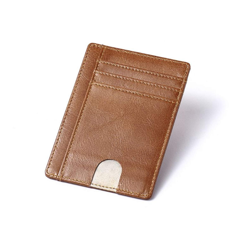 Amazon.com: Fafalisa - Monedero de piel con bloqueo RFID ...