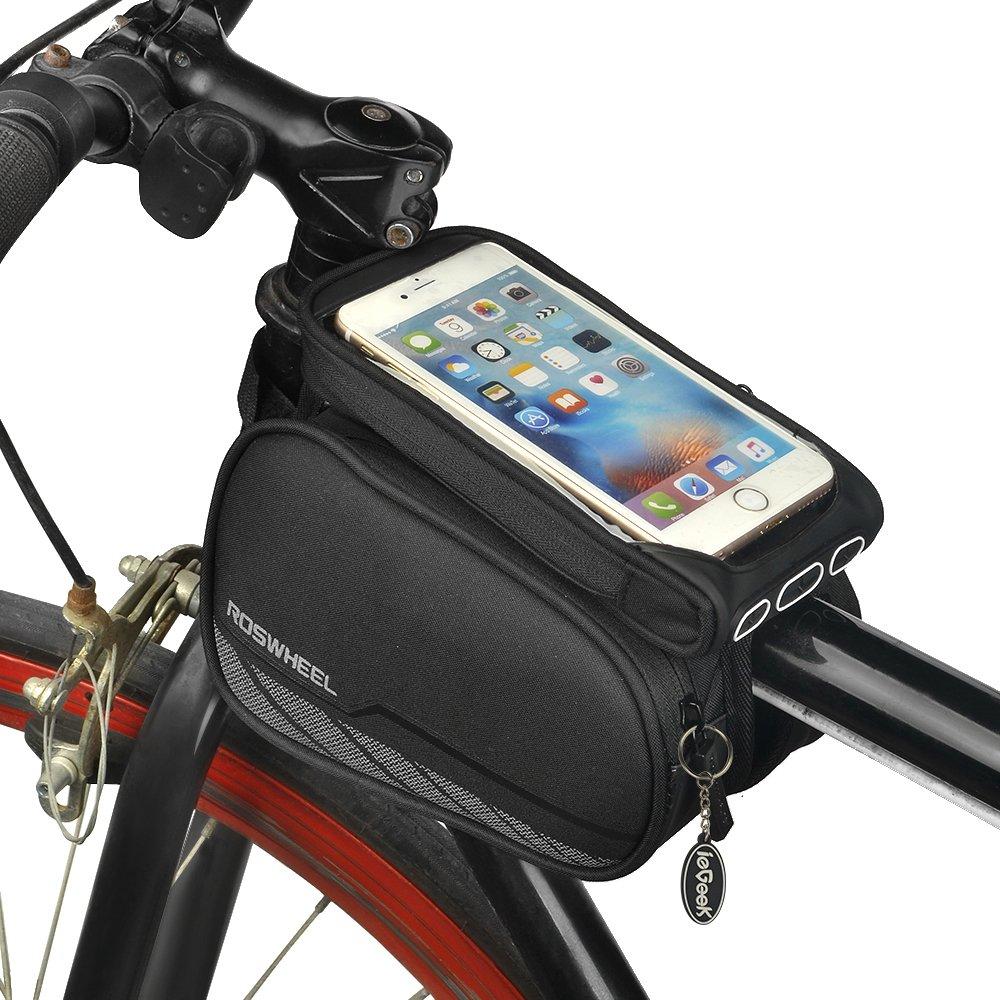 Iegeek Roswheel Cycling Frame Bag Head Tube Bag Front Top Tube