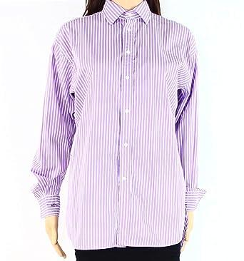 860ca7b6df3c Image Unavailable. Image not available for. Color  Polo Ralph Lauren  Striped Women s Button Down Shirt Purple 8