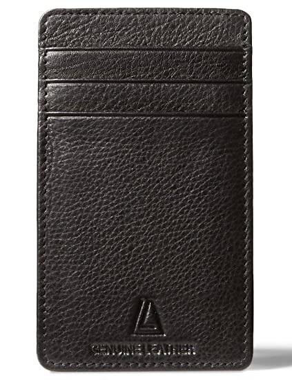 e5ed615b6bbd Leather Architect Men's 100% Leather RFID Blocking Card Holder with ID
