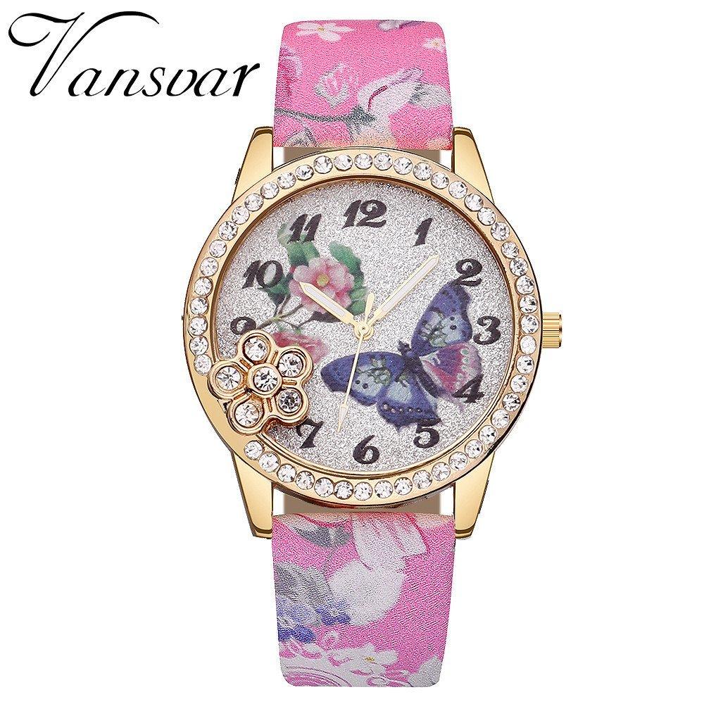 POTO - Reloj de pulsera analógico de cuarzo para mujer ...
