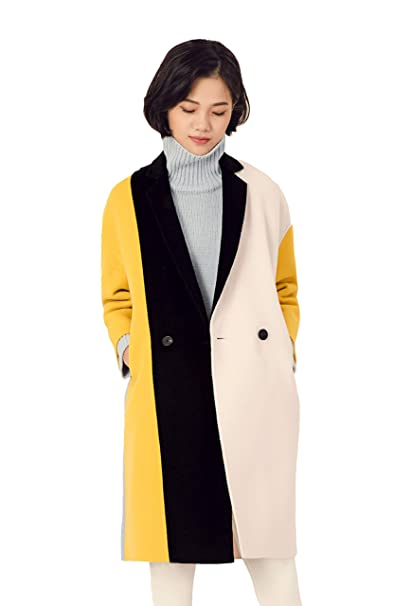 best place unequal in performance shop for newest Amazon.com: URLAZH Womens Black Yellow White Wool Blend ...