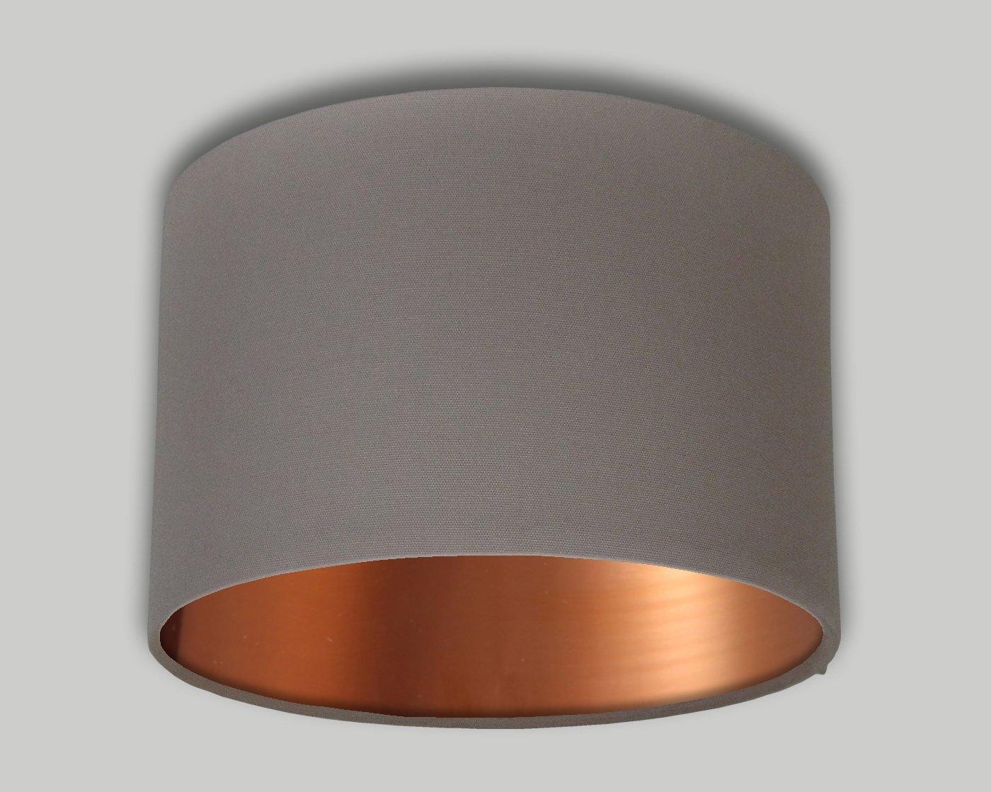 Dark Beige Drum Lampshade Brushed Copper Inner 20cm 25cm 30cm 35cm 40cm 50cm 60cm 70cm Lamp Shade Lightshade