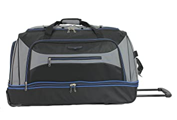 Sirocco 30 quot  Travel Duffle Large Wheeled Sports Travel Trolley Holdall  Bag (Black Grey. Roll ... 381a746f1e25c