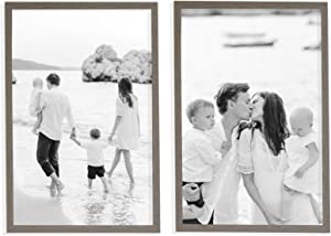 Sheffield Home Decor Collection- 2 Piece Picture Frame Set, Gallery Set, 20x30 in (Rustic Grey)