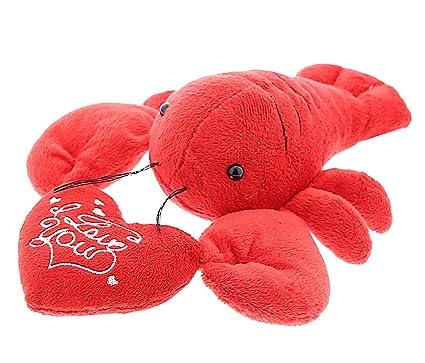 Amazon Com Dollibu Red Lobster I Love You Valentines Stuffed Animal