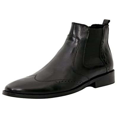 3bcc865cfc5 STEEMO Men's Boots, Formal Genuine Leather Wingtip Chelsea Boots Men, Ankle  Dress Boot for Men