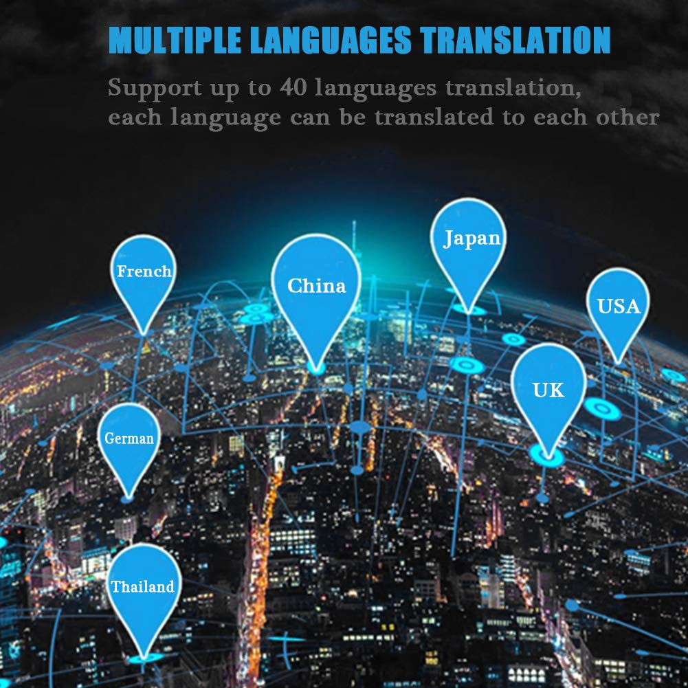 T8+ Smart Language Translator, 2.4G Bluetooth Real Time Voice Translation Device Support Chinese Arabic Portuguese French German Spanish Russian Japanese Romania 40 Languages for Travel Business by Zerone (Image #7)
