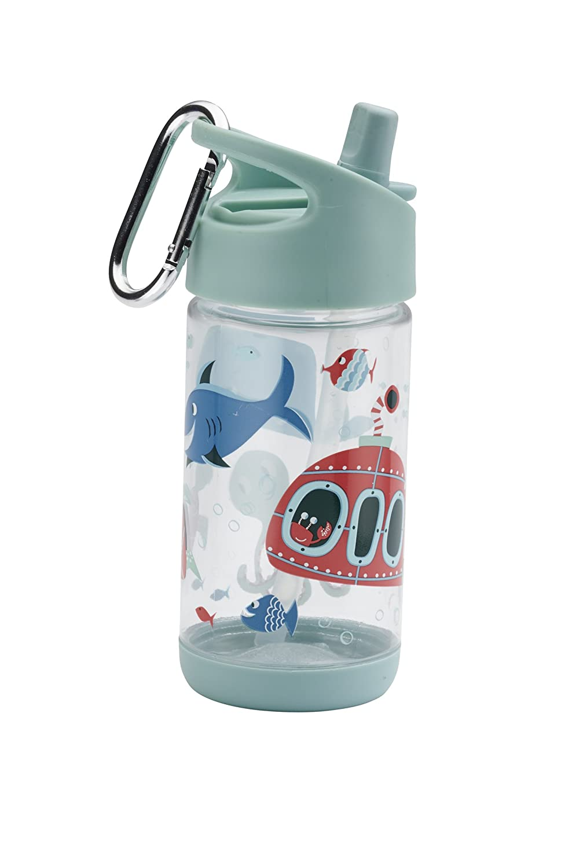 Sugarbooger Clear Tritan Flip /& Sip Cup Ocean