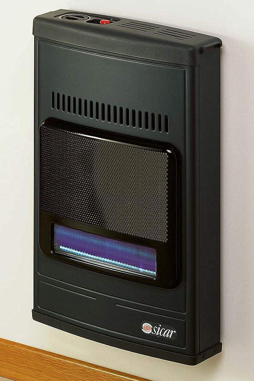 estufa de gas Metano Pared sicar eco45 llama protegida en la pared Doble seguridad Stop Gas cálido en casa encendido eléctrica Portátil: Amazon.es: Hogar