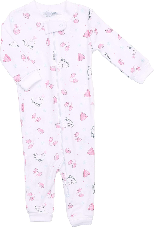 Magnolia Baby Baby Girl Happy Baby Zipped Pajamas Pink