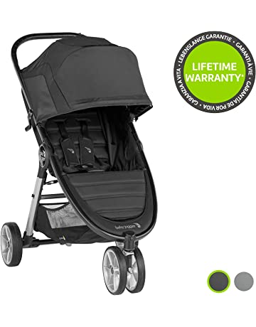 Baby Jogger City Mini 2 Pushchair | Lightweight, Foldable & Compact 3-Wheel Stroller | Jet (Black)