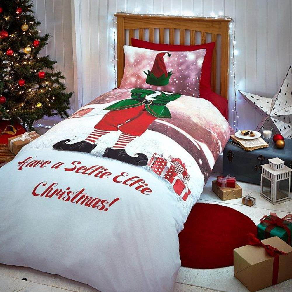 Christmas Elf Cute Childrens Kids or His & Hers Bedding Quilt Duvet ...