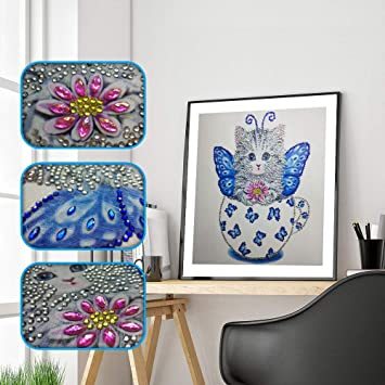 Eduavar DIY Diamond Painting Cross Stitch Craft Kit Wall Stickers for Living Room Decoration for Home Decor