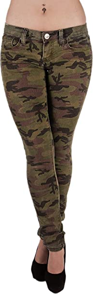 Classic 5 Pockets Camouflage Premium Skinny Jeans