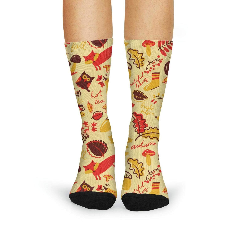 Womens Mushroom Casual Knee Socks Elasticity Compression Tube Socks