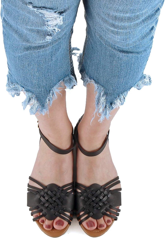 Amazon.com: Guilty Zapatos Mujer Festival Mexicano Huarache ...