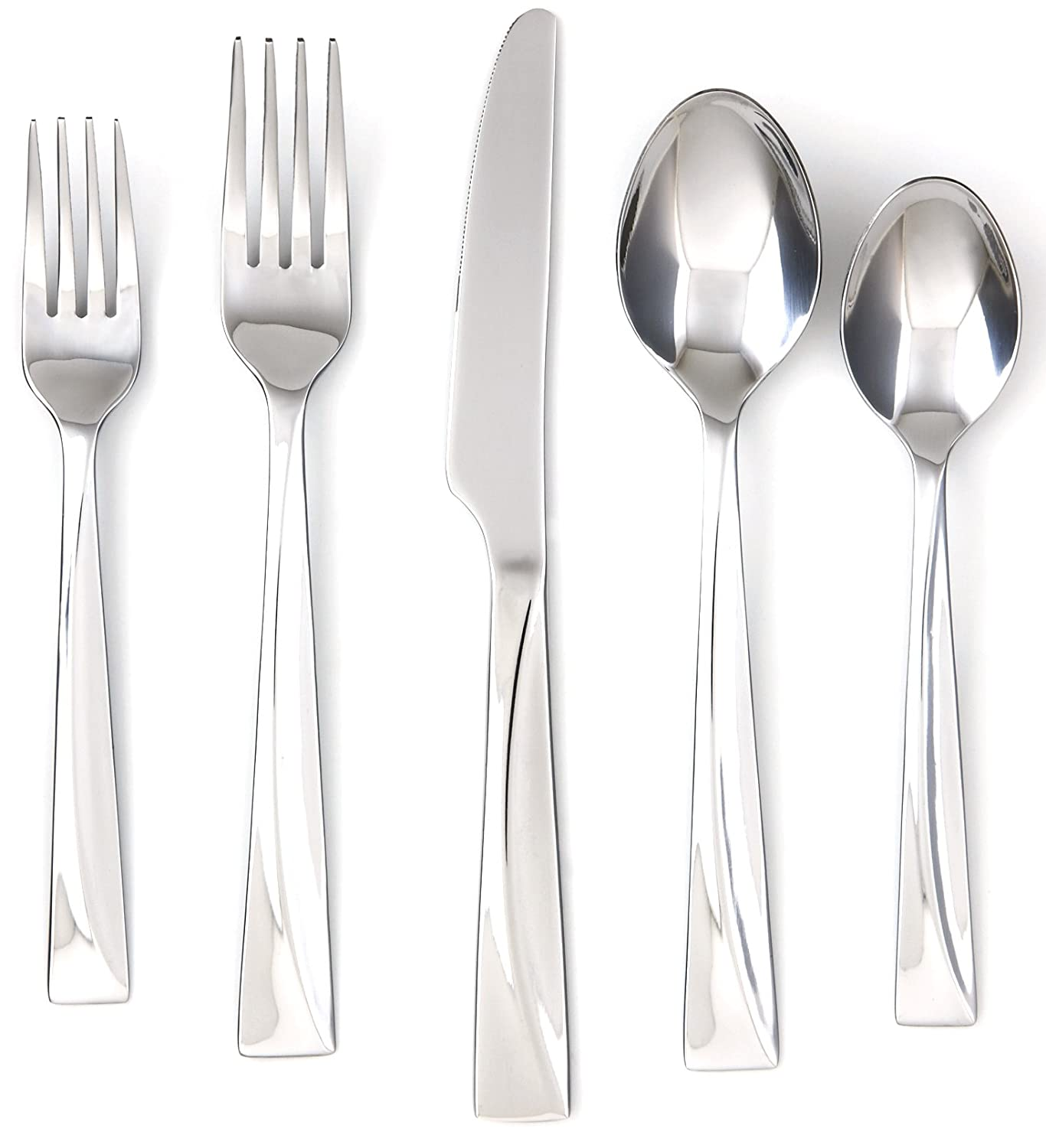 Amazon.com | Cambridge Silversmiths Jasper Mirror 20-Piece Flatware Set, Service for 4: Flatware Sets